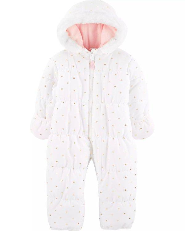婴儿保暖连体外套
