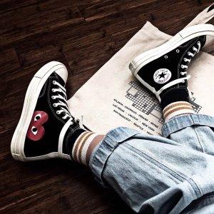 断货王高帮黑  手慢无惊喜补货:Converse X 川久保玲联名 经典黑白 可爱糖果色大集合