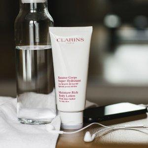 满£40送小样套装 满£130送价值£65化妆品!Clarins 英国官网护肤产品热卖