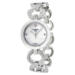 Extra $50 OffTISSOT White Mother of Pearl Diamond Dial Ladies Watch