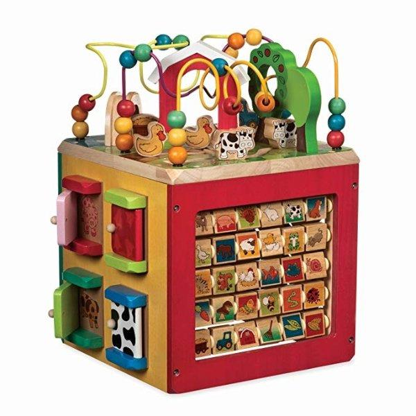 木质动物农场5面体益智玩具