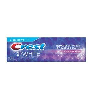3 for $0.18Crest 3D White Whitening Toothpaste, Radiant Mint