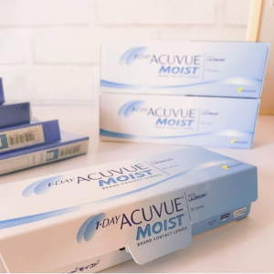 30片仅€19.5 平均仅€1.3/天ACUVUE 强生安视优Moist日抛隐形眼镜 柔软透气 舒适卫生