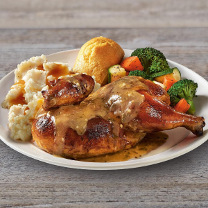 Only $7.99 Limited TimeBoston Market Half Rotisserie Chicken Individual Meal