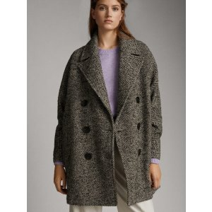 Massimo Dutti双排扣羊毛大衣