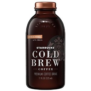 StarbucksCold Brew Coffee, Cocoa & Honey with Cream, 11 Fl oz Glass Bottles, 6 Count
