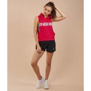 Gymshark 黑色跑步短裤