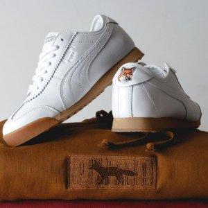 5折起+叠8折 €63收封面小白鞋Puma x Maison Kitsuné 超强联名折上折 当美洲豹遇上小狐狸