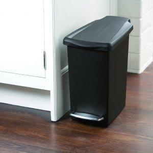 $21.59(原价$31.99)simplehuman 10L脚踩式垃圾桶 每天离不开的生活好物