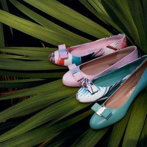额外7.5折 人气logoT恤$199Salvatore Ferragamo 全品类热卖 美鞋、腰带、蝴蝶结包