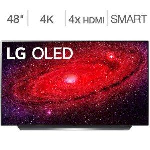 """$1249.99 送Allstate 3年保LG OLED CX 48"""" 4K OLED 智能电视 2020款"""