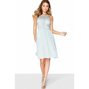 Midi 蓝色裙