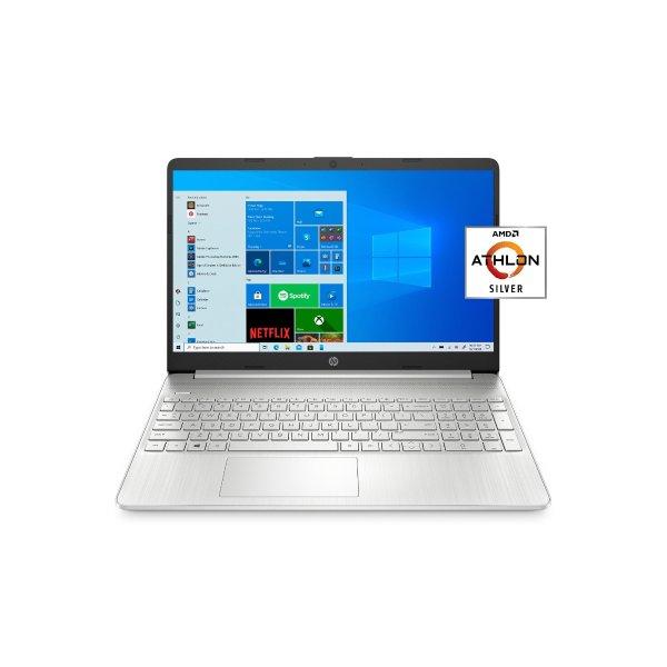 """15.6"""" FHD, Athlonn N3050, 4GB RAM, 128GB SSD, Silver, Windows 10 Home in S mode plus Microsoft Office, 15-ef1001wm"""
