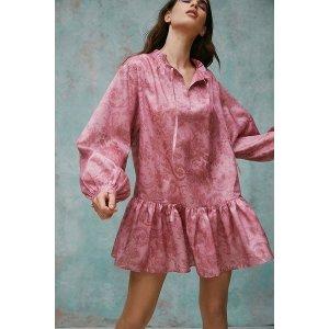流光衬衫裙