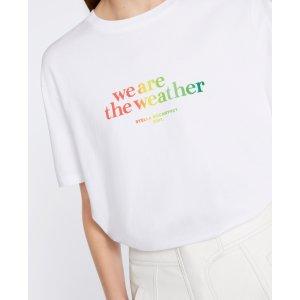 Stella McCartneyWomen's White We Are The Weather T Shirt <br>WATW Capsule | Stella McCartney Men