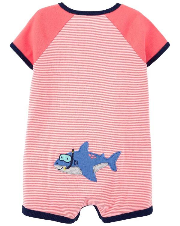 婴儿小鲨鱼爬服