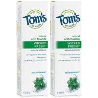 Tom's of Maine 天然防蛀牙含氟牙膏 薄荷味 2只