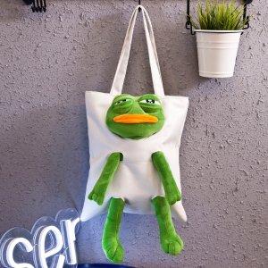 仅€11.99收封面款 多色选丑萌大眼蛙、粉红豹帆布包热卖 轻便大容量 背出街超吸睛