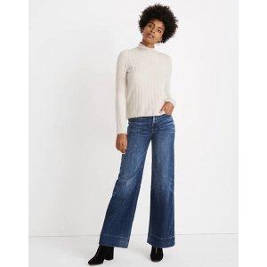 Madewell多色可选Evercrest Turtleneck Sweater in Coziest Yarn