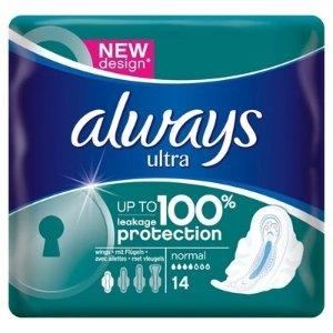 always第2件半价日用卫生巾 x 14 pads