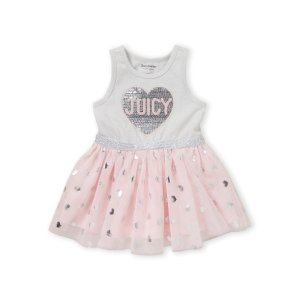 Juicy Couture(Toddler Girls) Sequin Heart Tutu Dress