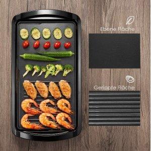 折后仅€35 一个人也可以烧烤DEIK 电烤盘 二合一烤盘 烤肉不粘锅 46x26cm 5级控温