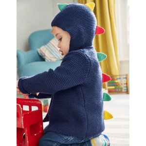 婴幼儿童趣恐龙连帽针织衫