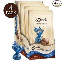 Dove 牛奶巧克力松露圣诞节礼袋 5.31oz 4包