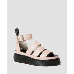 Dr. Martens粉色罗马绑带凉鞋
