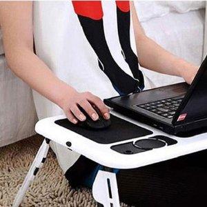 低至4折 还配有电脑降温小电扇Foldable Laptop Tables 家居必备小物 可折叠床上小桌