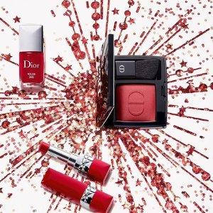 无门槛7.5折 满额立享7折Dior 秋冬限量新品上市 收圣诞烟花眼影盘、口红包包套装