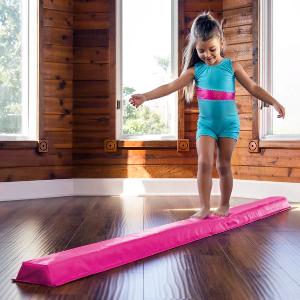 $39.99+包邮 蓝粉紫3色选体操家里做?9英尺长可折叠收纳儿童用平衡木可以买到