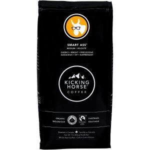 $9.99(原价$10.99) 1磅Kicking Horse Coffee 踢马  灰熊爪深度烘焙 有机咖啡豆