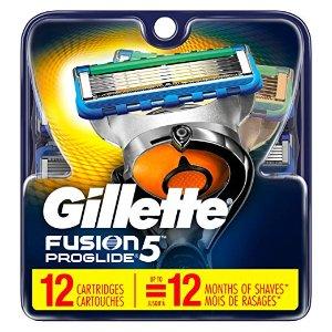 $23.61(原价$47.99)Gillette 精选男士剃须刀及刀片更换装 12支