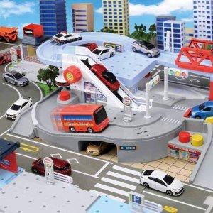 直邮含税到手价$105TAKARA TOMY 儿童车道玩具 双层交叉路线切换乐趣多
