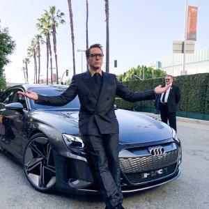 这台Audi座驾你绝对没有见过钢铁侠帅气现身复仇者联盟4首映会
