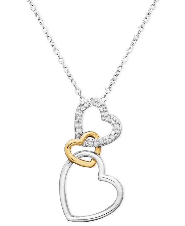 18k金 环环相扣钻石项链