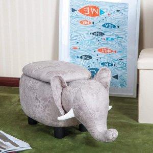 低至6.5折+额外9折Home Depot 多款动物造型带收纳小凳子促销