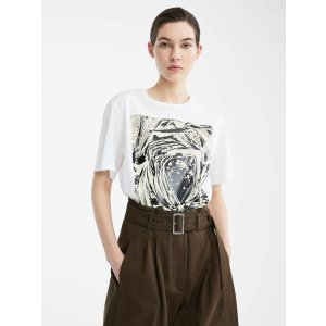 Re-Find cotton jersey T-shirt, optical white -