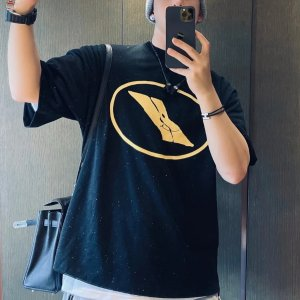 We11doneS/M码!98%棉!黑色印花T恤