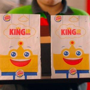 满$5送儿童餐 满$3送橙汁Burger King 限时优惠 单层皇堡$1 双层皇堡$2 三层皇堡$3