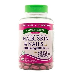 $8.13Nature's Truth Superior Strength Hair/Skin/Nails with Argan/Coconut Oil/Collagen