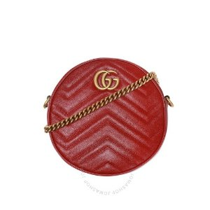 仅$899.99(原价$1290)上新:Gucci Marmont红色小圆包 变相7折 秒断货