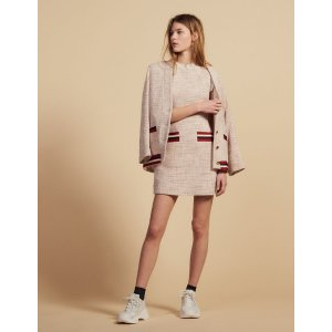SandroStraight-cut short tweed dress