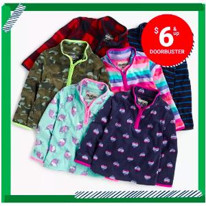 $6 and UpOshKosh BGosh Kids Fleece Cozies Doorbuster Sale