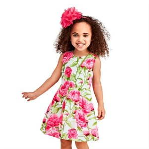 ede692ffc37d The Children's PlaceToddler Girls Mommy And Me Sleeveless Floral Print  Woven Matching Dress