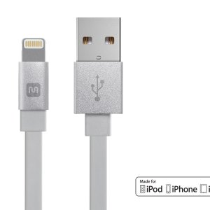 3 for $12Monoprice MFi certified Lightning USB Cable