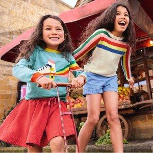 8折无税 可爱毛衣上新上新:Mini Boden 初秋童装上市,高颜值高品质英伦范