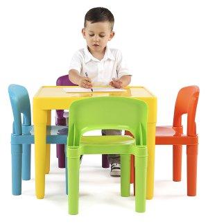 $69.05史低价:Tot Tutors  儿童彩色塑料桌椅5件套