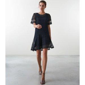 Reiss蕾丝连衣裙